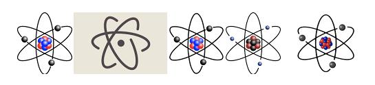 Atoms, Nucleus, Electrons, Protons, Neutrons
