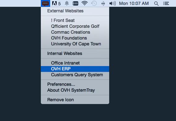 OVH System Tray