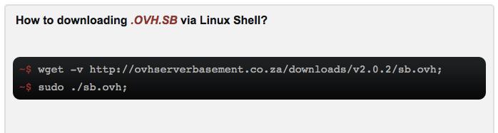 OVH Server Basement